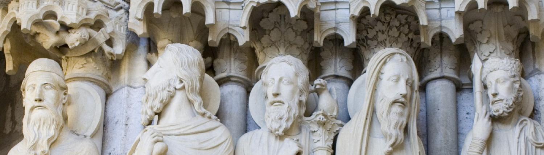 Chartres Reisen, Hauptfiguren am Nordportal
